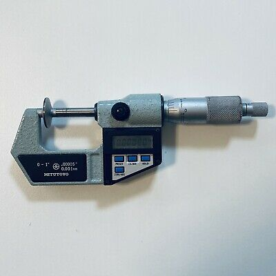 Mitutoyo Digimatic Micrometer 323-711 Used And Working.