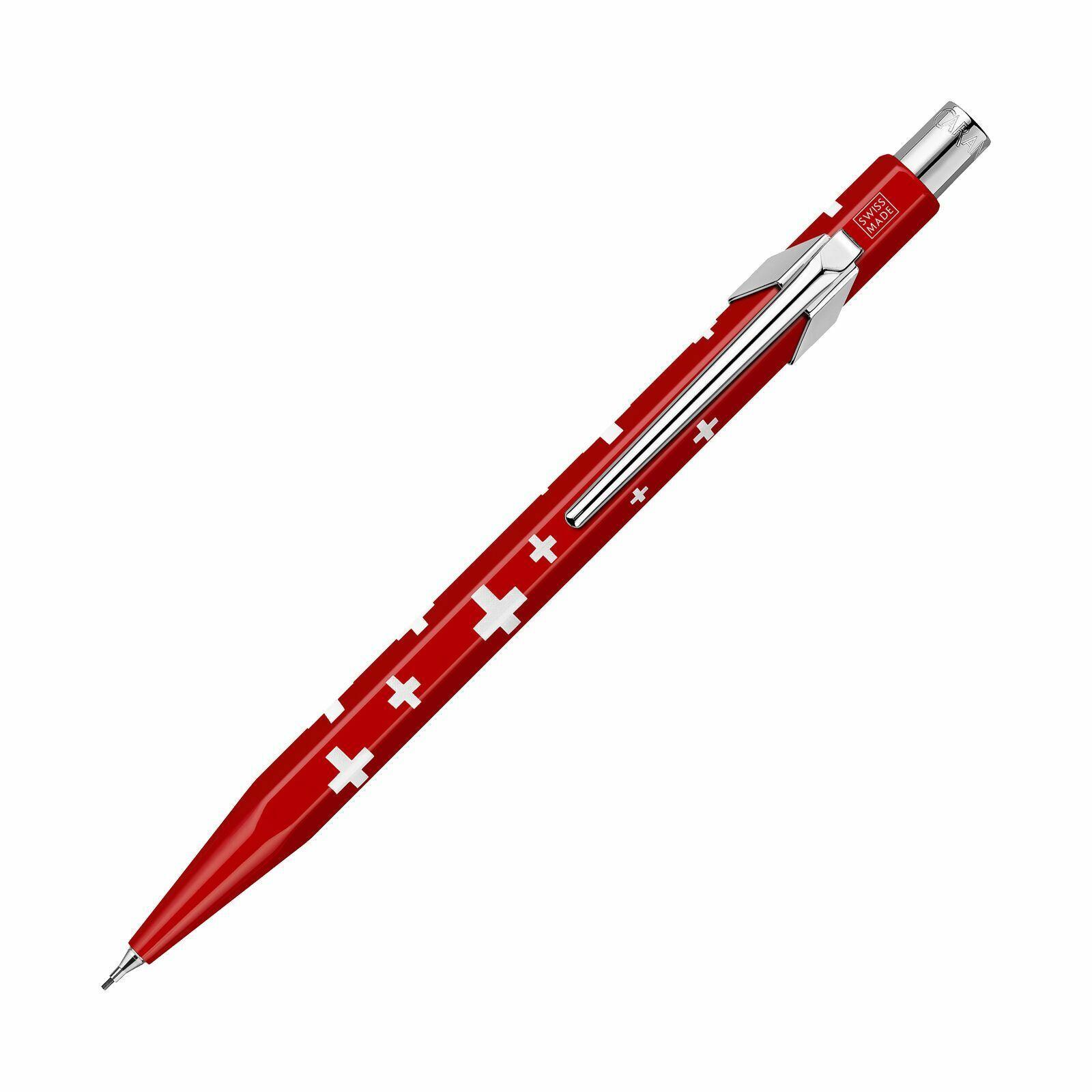 Caran D'Ache 849 Mechanical Pencil, .7mm, Swiss Flag, New Collectibles
