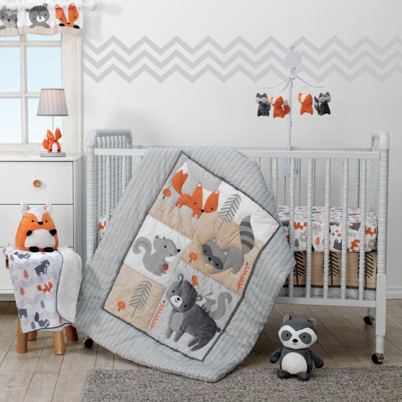 Bedtime Originals Acorn 3-Piece Crib Bedding Set - Gray, Animals, Woodland