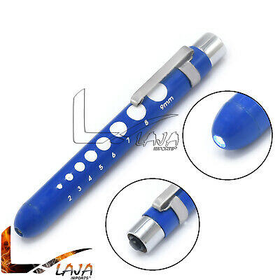 Royal Blue Medical Penlight Pupil Gauge Pocket Inspection Torch With Clip Pl-015