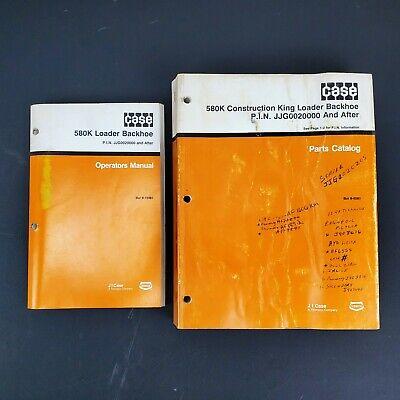 Case 580k Construction King Loader Backhoe Operations Manualparts Catalog-1990