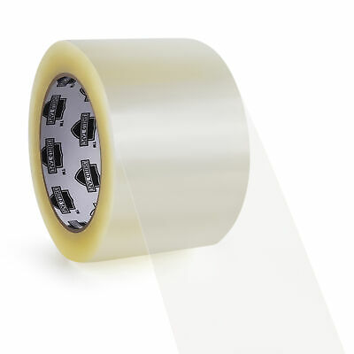 192 Rolls Clear Carton Box Sealing Packaging Packing Tape 1.75 Mil 3
