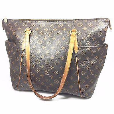 Authentic Louis Vuitton Monogram Totally GM Tote Shoulder Handbag Purse M56690