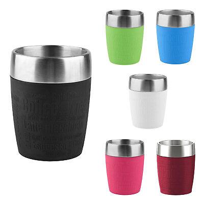Emsa TRAVEL CUP Isolierbecher Kaffeebecher Eisbecher Thermobecher to go 0,2 L (Edelstahl Isolier-becher)
