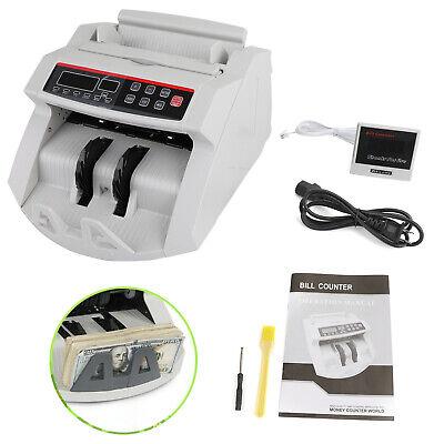 Money Bill Counter Machine Cash Count Counterfeit Detector Uvmg Bank Checker H