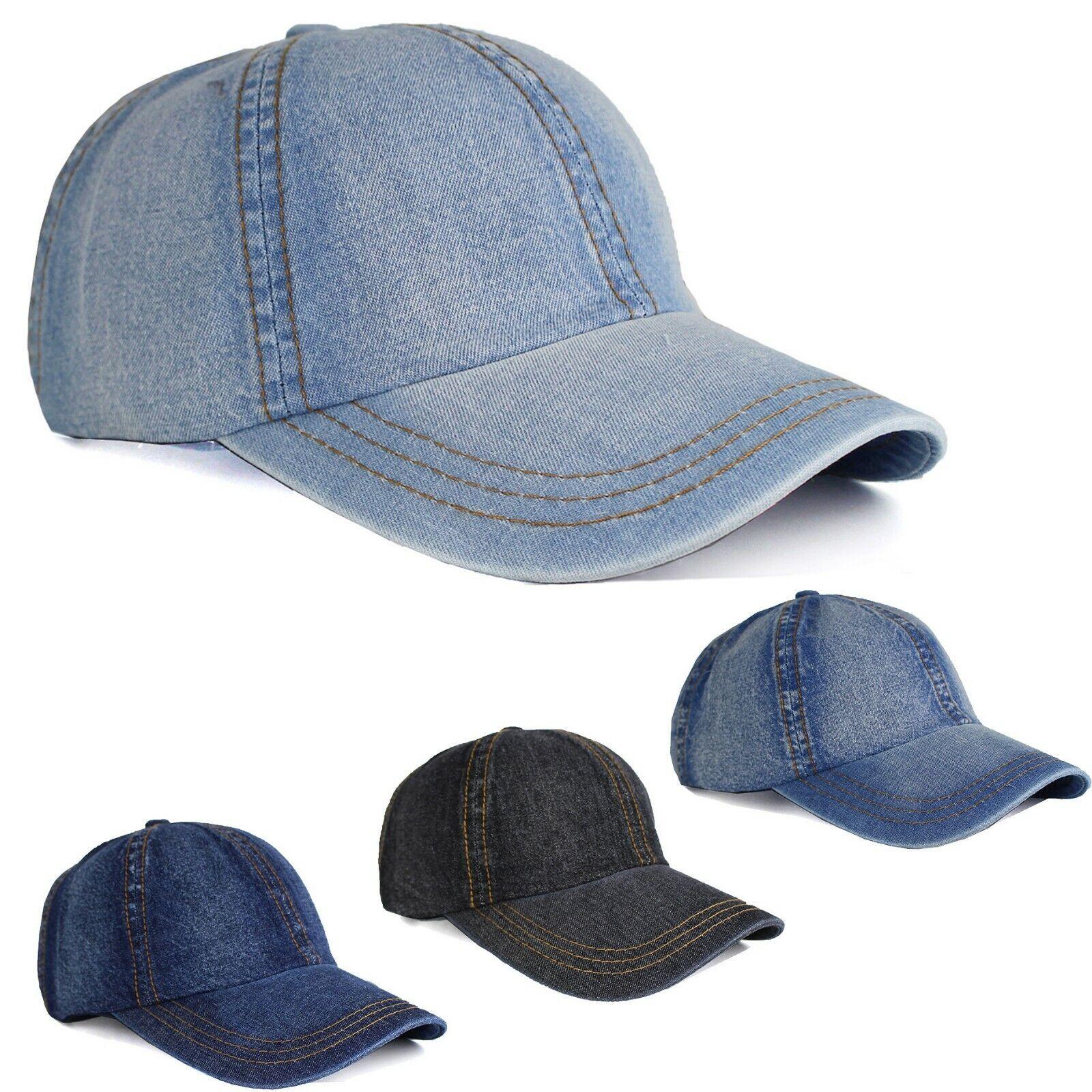 Jeans Denim Look Baseball Basecap Cap Kappe 100% Baumwolle Unisex Herren Damen