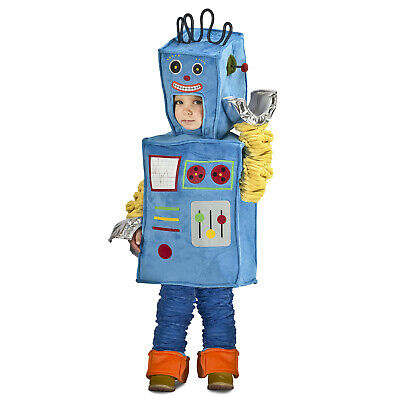 Toddler Racket the Robot Halloween Vintage Style Costume Blue Boys 18M/2T XS