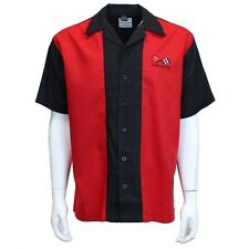 David Carey Classic Corvettes C3 Embroidered Mechanics Club Shirts Black & Red