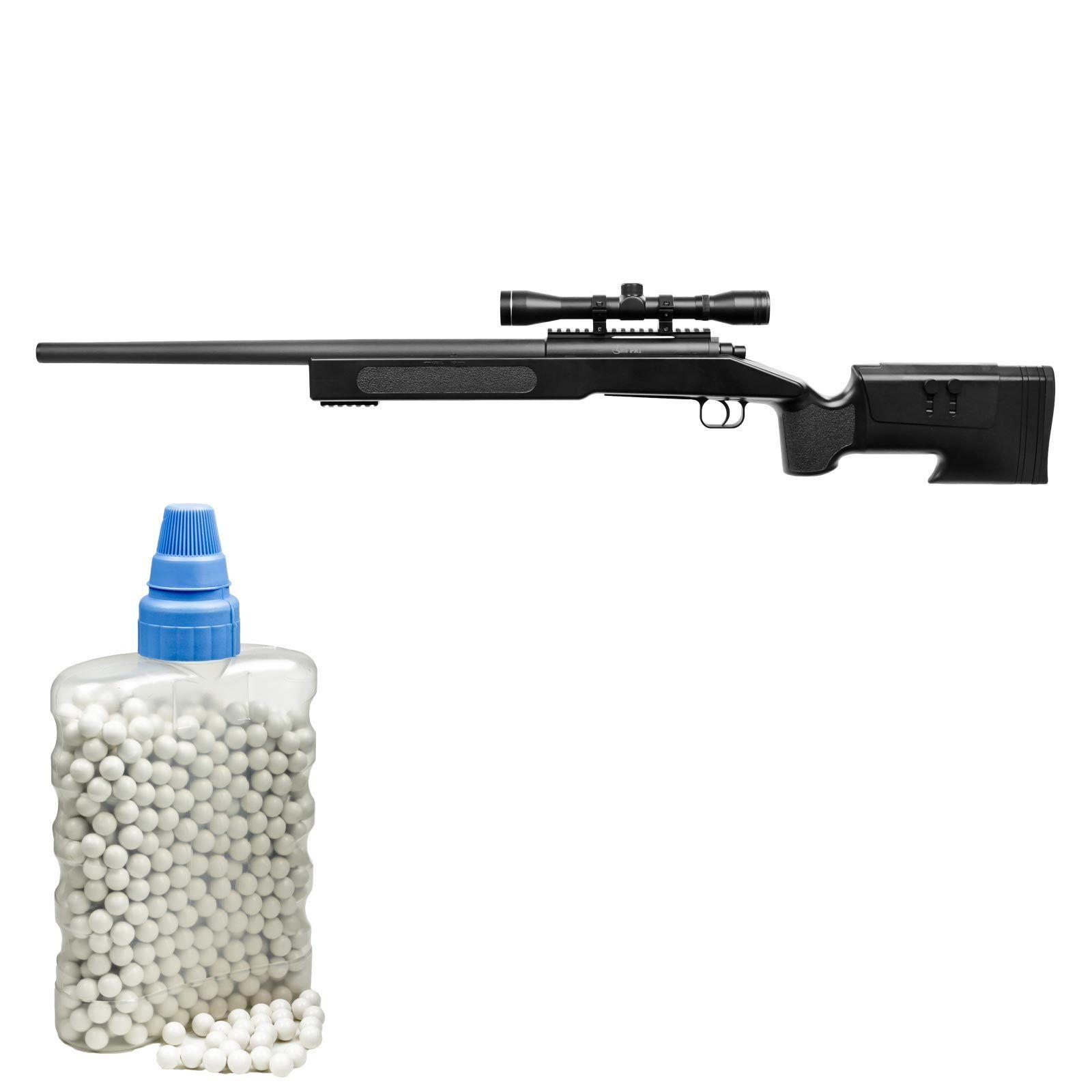 Combat Zone PR1 Schwarz Sniper Federdruck Softair-Gewehr 6 mm BB <0,5 Joule(P14)