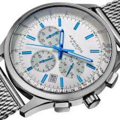 NEW Akribos XXIV AK625SS Mens Ultimate Stainless Steel Mesh Bracelet Watch 165FT