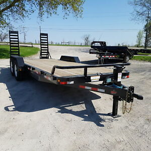 2018 ED Trailers 7' X 20' 7 Ton Equipment Hauler