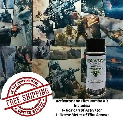 Hydrographic Water Transfer Hydro Dip 6oz Activator 1m Warfare Film Dip Kit
