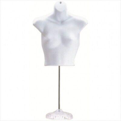 New Female Torso Mannequin Form - White W Acrylic Base