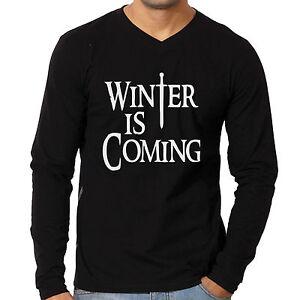 Vneck-Tshirts-Winter-is-coming-Full-sleeve-tees