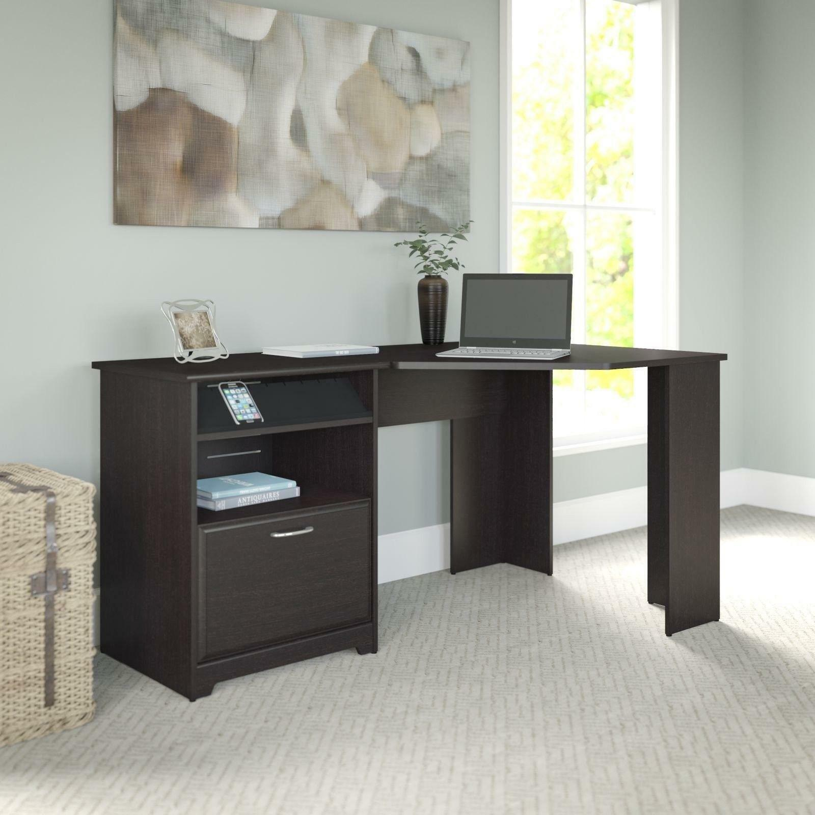 Bush Cabot Espresso Oak Finish Corner Computer Desk Wc 31815 03 Ebay # Muebles Para Wc