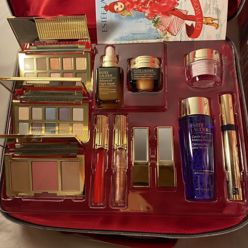 2020 Estee Lauder Blockbuster Holiday Gift Full Set 12PC +Case (Resilience Cream