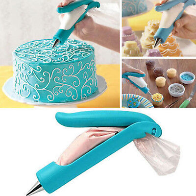 Pastry Icing Piping Bag Nozzle Tips Fondant Cake Decorating Pen DIY Tool Set US (Ice Decorations)