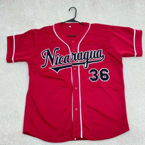 Nicaragua Baseball Short Sleeve Jersey Men