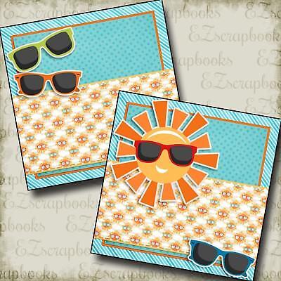 SUNGLASSES NPM - 2 Premade Scrapbook Pages - EZ Layout (Sunglasses Layout)
