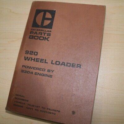 Cat Caterpillar Mitsubishi 920 Wheel Loader Parts Manual Book 75j Series List