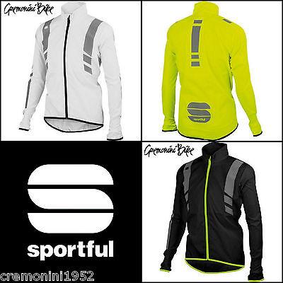 Giubbino bici ciclismo Sportful antivento antipioggia giacca visibilità bike mtb