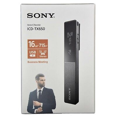 Usado, Sony ICD-TX650 Slim High Quality Digital Voice Recorder 16GB MP3 Player Black segunda mano  Embacar hacia Argentina