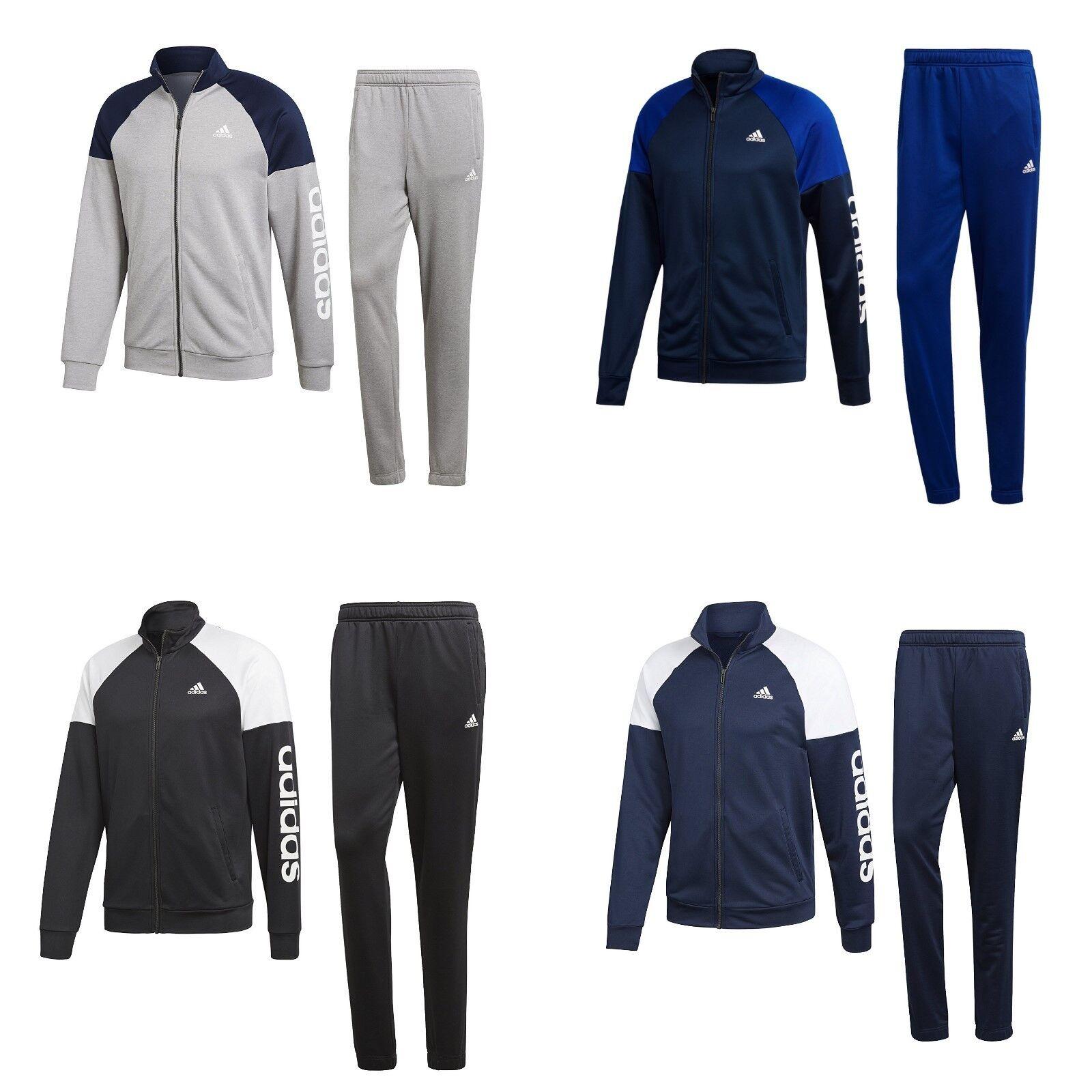 adidas Trainingsanzug Sportanzug Jogginganzug Herren Männer Dunkelblau