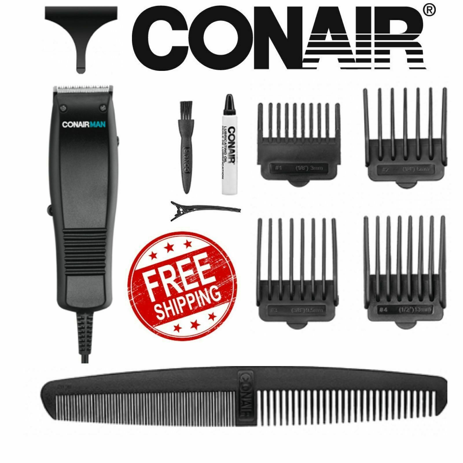 Conair HC93W 10 Piece Professional Hair Clippers Trimmer Kit