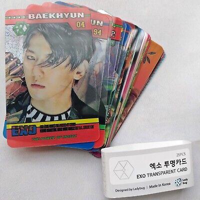EXO Transparent 25 Photocards The war Power Of Music Album Lenticular Photocard