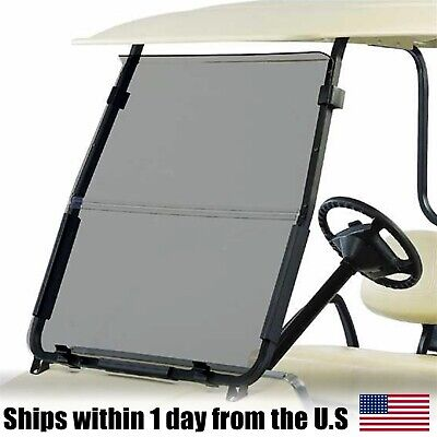 Tinted Golf Cart Windshield Fits Club Car DS '00.5 - Up Folding Acrylic
