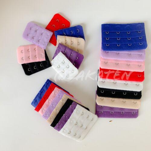 3PCs Women Bra Extender Bra Extension Strap 2/3/4 Hooks US seller