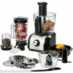 New Andrew James Food Processor Mixer Blender Citrus Juicer Coffee Grinder
