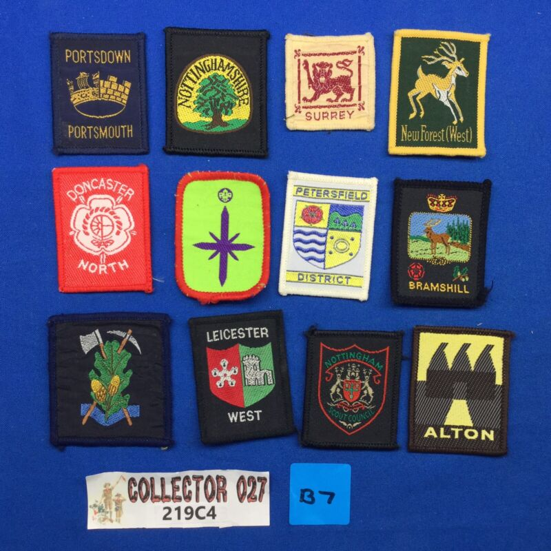 Boy Scout 12 British Scout Badges Patches Mixed lot # B7