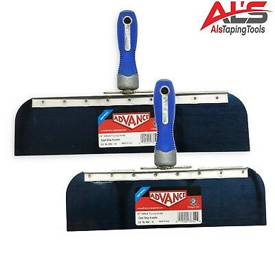Advance Drywall Offset Taping Knife 12 14 Blue Steel Finishing Knives Set