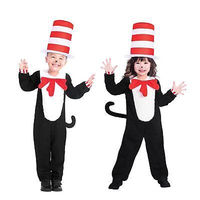 Die Katze Im Hut Kostüm Komplettes Kostüm für Kinder Buch Woche ()