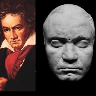 """Ludwig van Beethoven Life Mask Cast German composer and pianist Classical """"Rare"""""""