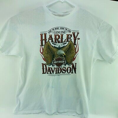 Harley Davidson Mens XL Chester Reno Graphic T-Shirt Eagle Comstock NV