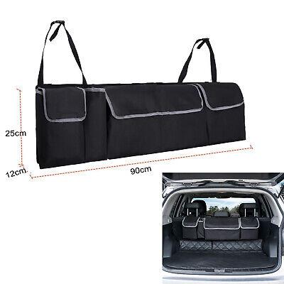 LARGE CAR BOOT POCKET ORGANISER BACK SEAT HANGER TIDY STORAGE BAG HANGING...