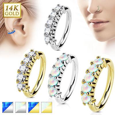 Gold 14 (Echt Gold 585 14 Karat Tragus Helix Ohr Stecker Piercing Nasenring Septum Ring)
