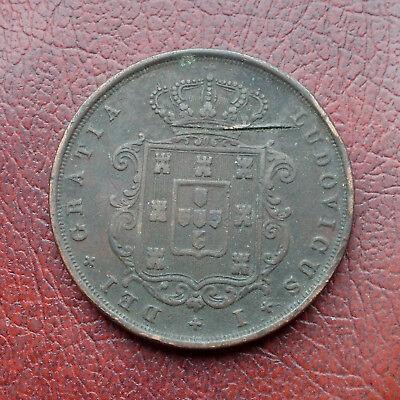 Portugal 1873 copper 20 reis