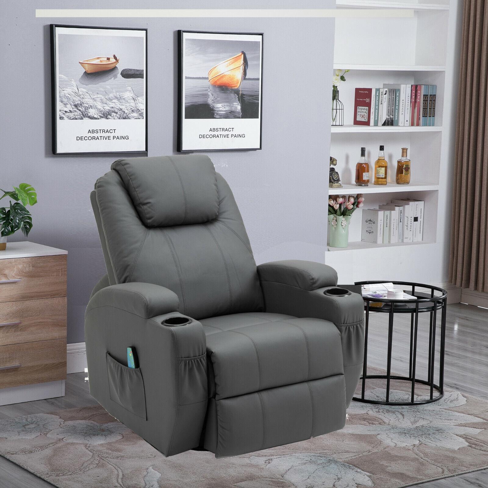 Fernsehsessel Relaxsessel Massagesessel Wärmefunktion Fernbedienung 360°drehbar