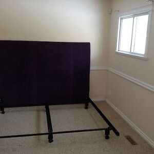 King sized purple velvet bed frame
