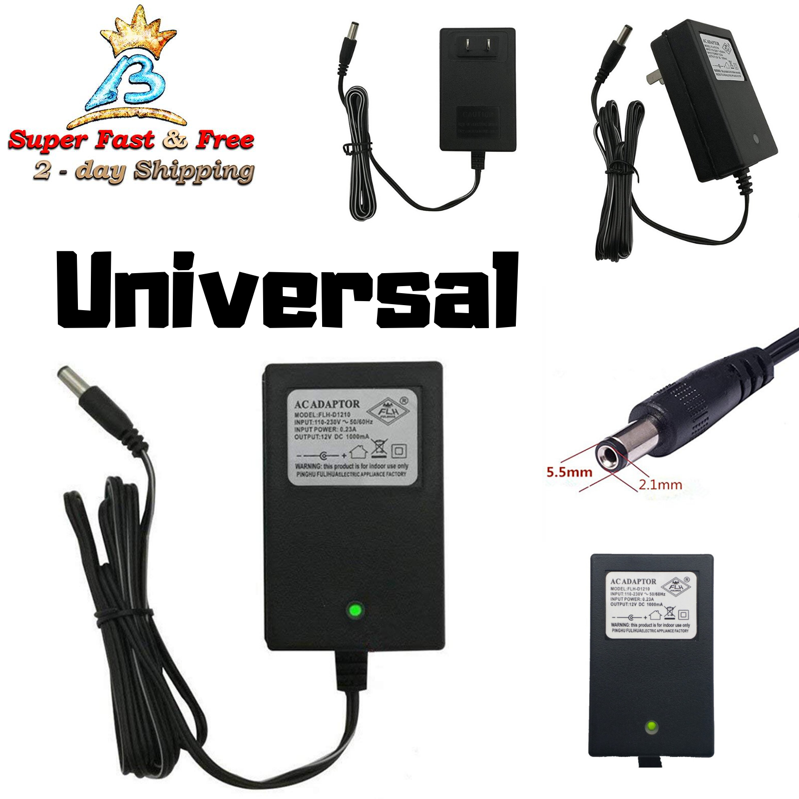fast 12 volt battery charger for power