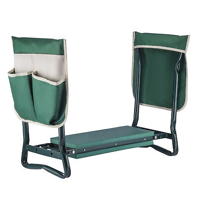 Folding Sturdy Garden Kneeler Bench Kneeling Pad Seat Cushion Durable Tool Pouch