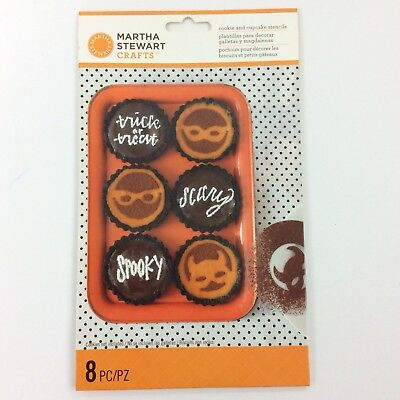 Martha Stewart Crafts HALLOWEEN Cookie and Cupcake Stencils 8 Piece NIP](Martha Stewart Halloween Cookies)