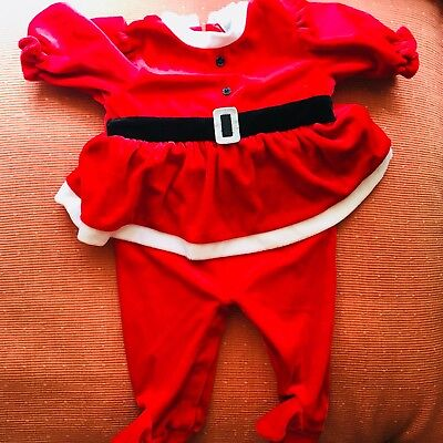Cute 0-3 Month Halloween Costumes (CUTE! Toddler SANTA Outfit. Size 0-3 Months. Halloween / Christmas)