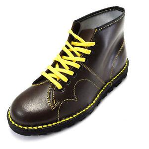 original 1970 s style oxblood leather monkey boots ebay