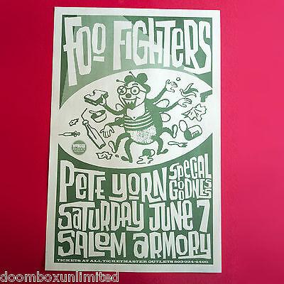 Foo Fighters 2003 Original 11x17 concert poster. Salem Oregon. Pete Yorn. Mint