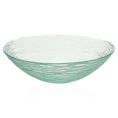 Glass Round Salad Fruit Bowl Display Arrangements Centerpiece Serving Dish Decor