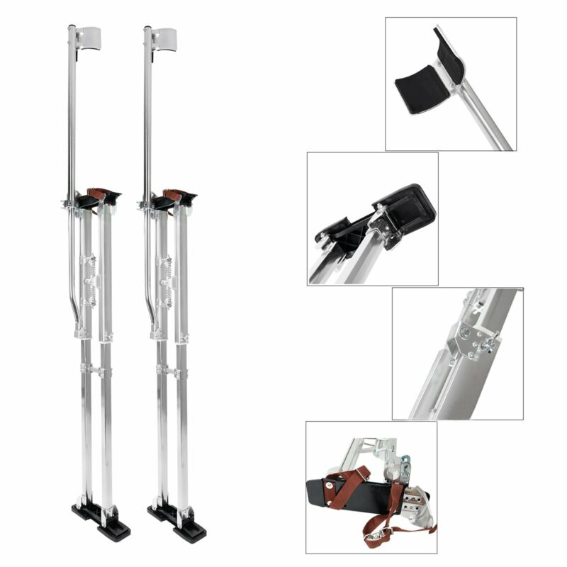 Drywall Stilts 48-64 Inch Aluminum Tool Stilt For Painting Painter Taping New